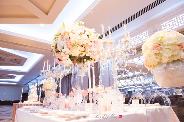 Forever Blush Styled Shoot Cristal Olivier Weddings Table Decor LoveweddingsNG 7