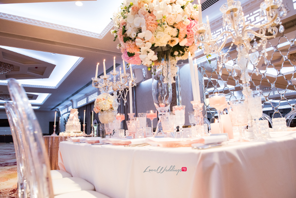 Forever Blush Styled Shoot Cristal Olivier Weddings Table Decor LoveweddingsNG 8