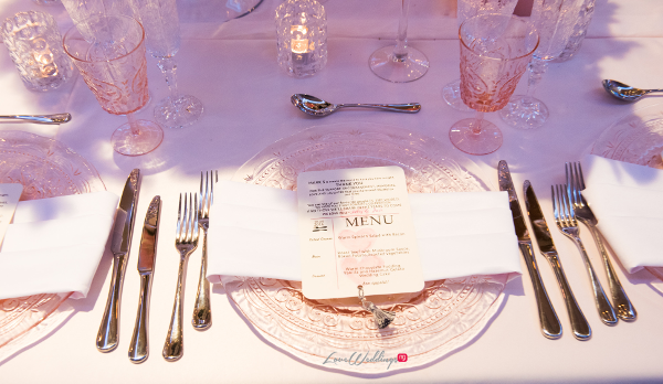 Forever Blush Styled Shoot Cristal Olivier Weddings Table Menu Cards LoveweddingsNG