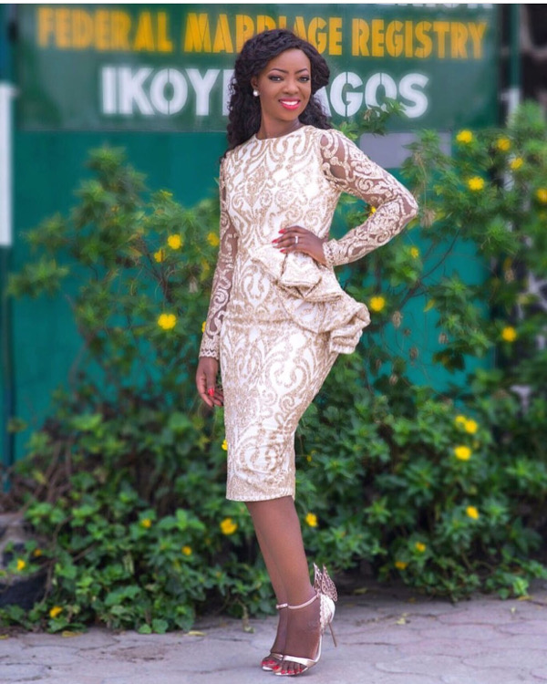 Kunbi Oyelese of April by Kunbi and Lanre Registry Wedding LoveweddingsNG 1