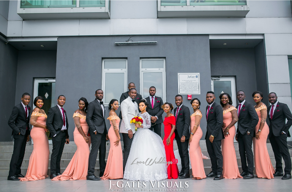 Nigerian Bride, Groom and Bridal Train Odera & Daniel Trendybee Events LoveweddingsNG 1