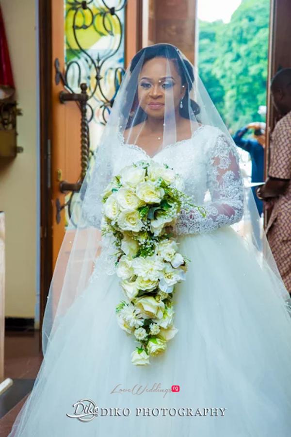 Nigerian Bride, Veil and Bouquet Judith & Kingsley Diko Photography LoveweddingsNG