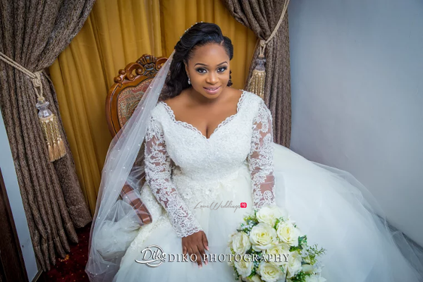 Nigerian Bride and Bouquet Judith & Kingsley Diko Photography LoveweddingsNG 1