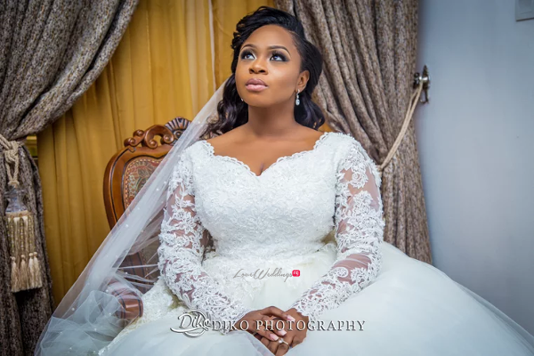 Nigerian Bride and Bouquet Judith & Kingsley Diko Photography LoveweddingsNG 2
