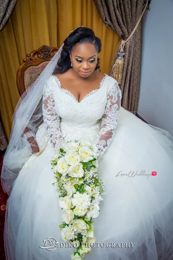 Nigerian Bride and Bouquet Judith & Kingsley Diko Photography LoveweddingsNG 3