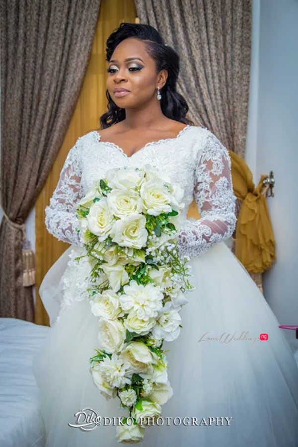 Nigerian Bride and Bouquet Judith & Kingsley Diko Photography LoveweddingsNG
