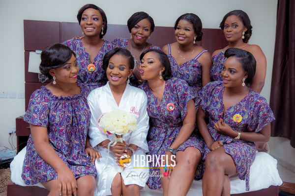 Nigerian Bride and Bridesmaids Robe Dami and Tobi HB Pixels LoveweddingsNG 1