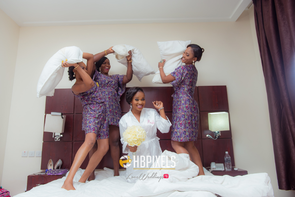 Nigerian Bride and Bridesmaids Robe Dami and Tobi HB Pixels LoveweddingsNG