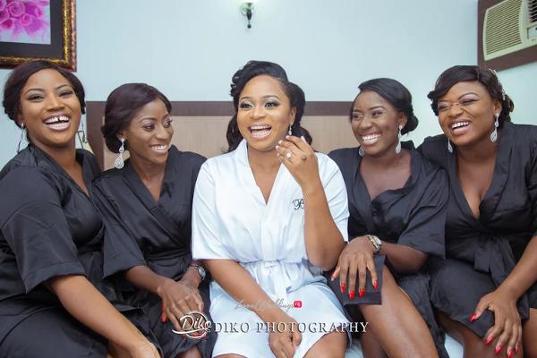 Nigerian Bride and Bridesmaids Robe Judith & Kingsley Diko Photography LoveweddingsNG 2