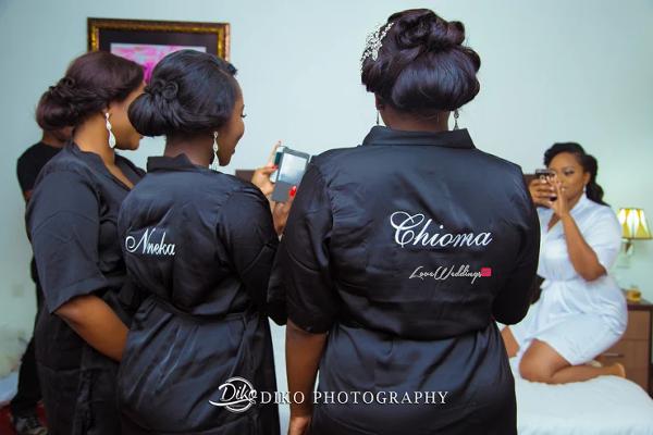 Nigerian Bride and Bridesmaids Robe Judith & Kingsley Diko Photography LoveweddingsNG