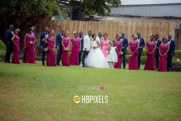 Nigerian Couple and Bridal Train Dami and Tobi HB Pixels LoveweddingsNG 1