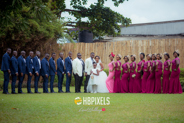 Nigerian Couple and Bridal Train Dami and Tobi HB Pixels LoveweddingsNG