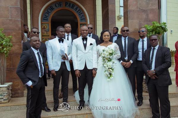 Nigerian Couple and Groomsmen Judith & Kingsley Diko Photography LoveweddingsNG