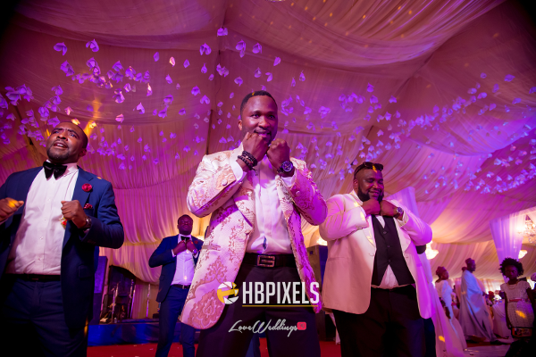 Nigerian Groom and Groomsmen Dance Dami and Tobi HB Pixels LoveweddingsNG