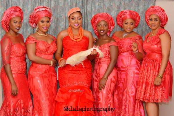 Nigerian Igbo Bride and Aso Ebi Girls Chichi and Stan Klala Photography LoveweddingsNG 1
