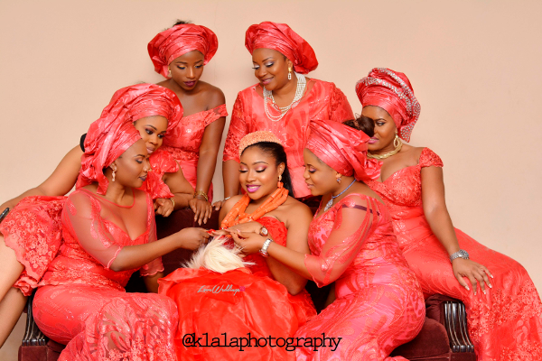 Nigerian Igbo Bride and Aso Ebi Girls Chichi and Stan Klala Photography LoveweddingsNG
