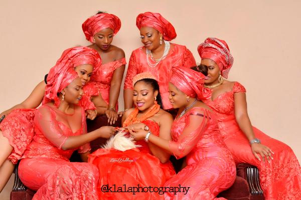 Nigerian Igbo Bride and Aso Ebi Girls Chichi and Stan Klala Photography LoveweddingsNG