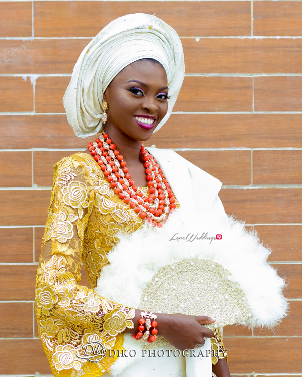 Nigerian Traditional Bride Tope and Dami Diko Photography LoveweddingsNG 3