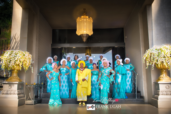 Nigerian Traditional Bride and Bridesmaids Kunbi Oyelese Lanre Tomori LoveweddingsNG