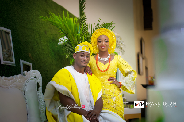 Nigerian Traditional Bride and Groom Kunbi Oyelese Lanre Tomori LoveweddingsNG 1