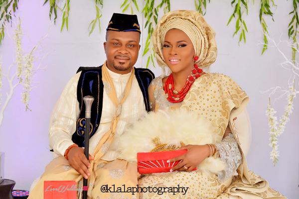Nigerian Traditional Bride and Groom Olamide Smith Udeme Williams Klala Photography LoveweddingsNG 1