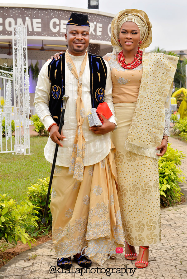 Nigerian Traditional Bride and Groom Olamide Smith Udeme Williams Klala Photography LoveweddingsNG