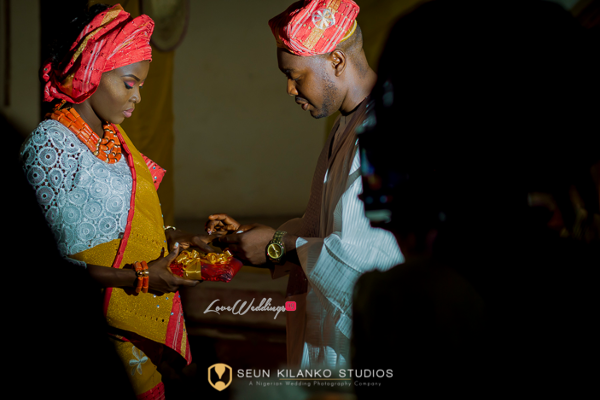 Nigerian Traditional Bride and Groom Ring Seun and Tosin Seun Kilanko Studios LoveweddingsNG