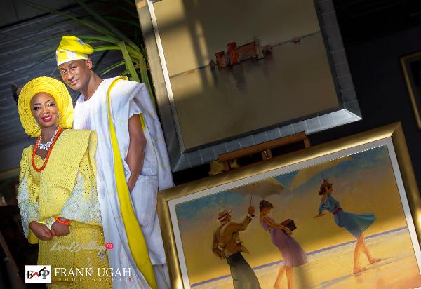 Nigerian Traditional Couple Kunbi Oyelese Lanre Tomori LoveweddingsNG