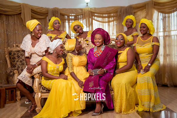 Nigerian Traditional Wedding Bride and Friends Dami & Tobi HB Pixels LoveweddingsNG 1