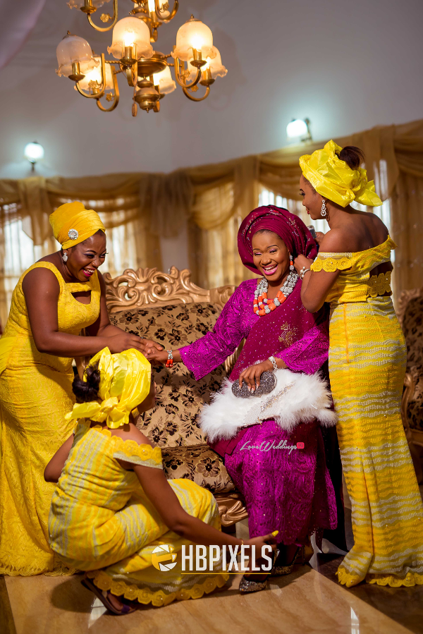 Nigerian Traditional Wedding Bride and Friends Dami & Tobi HB Pixels LoveweddingsNG 2