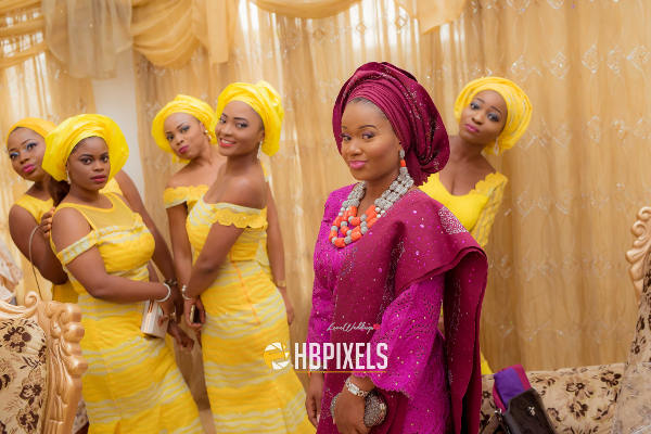 Nigerian Traditional Wedding Bride and Friends Dami & Tobi HB Pixels LoveweddingsNG