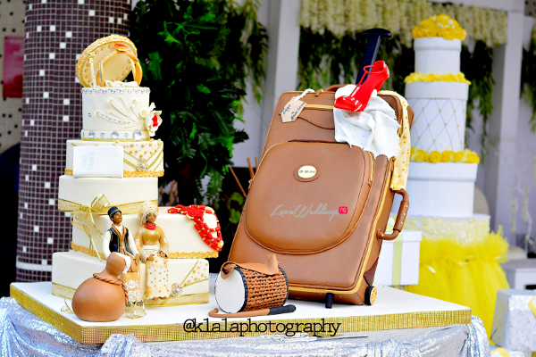 Nigerian Traditional Wedding Cake Olamide Smith Udeme Williams Klala Photography LoveweddingsNG 1