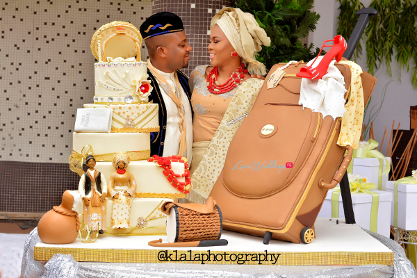 Nigerian Traditional Wedding Cake Olamide Smith Udeme Williams Klala Photography LoveweddingsNG