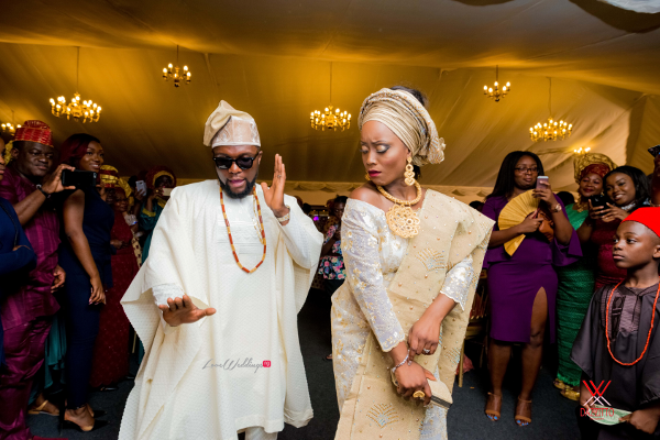 Nigerian Traditional Wedding in London Seun and Segun Bride and Groom Dancing LoveweddingsNG Dazzitto Photography