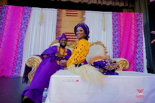 Nigerian Traditional Wedding in London Seun and Segun Bride and Groom LoveweddingsNG Dazzitto Photography 2