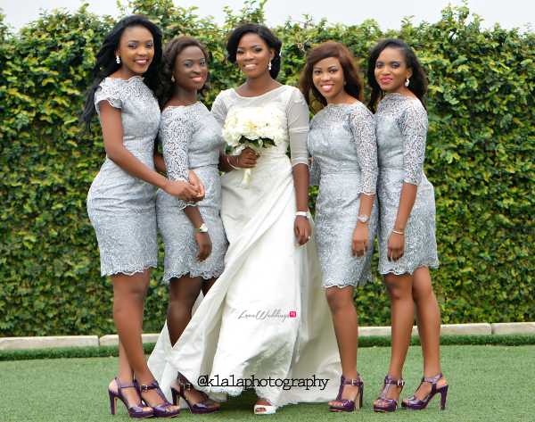 Nigerian Wedding Bride and Bridesmaids Bukky & Poju Klala Photography LoveweddingsNG 1