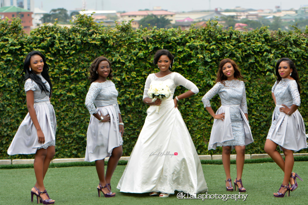 Nigerian Wedding Bride and Bridesmaids Bukky & Poju Klala Photography LoveweddingsNG