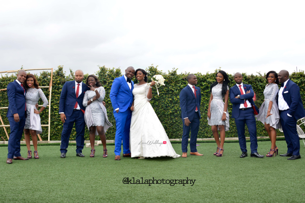 Nigerian Wedding Couple and Bridal Train Bukky & Poju Klala Photography LoveweddingsNG