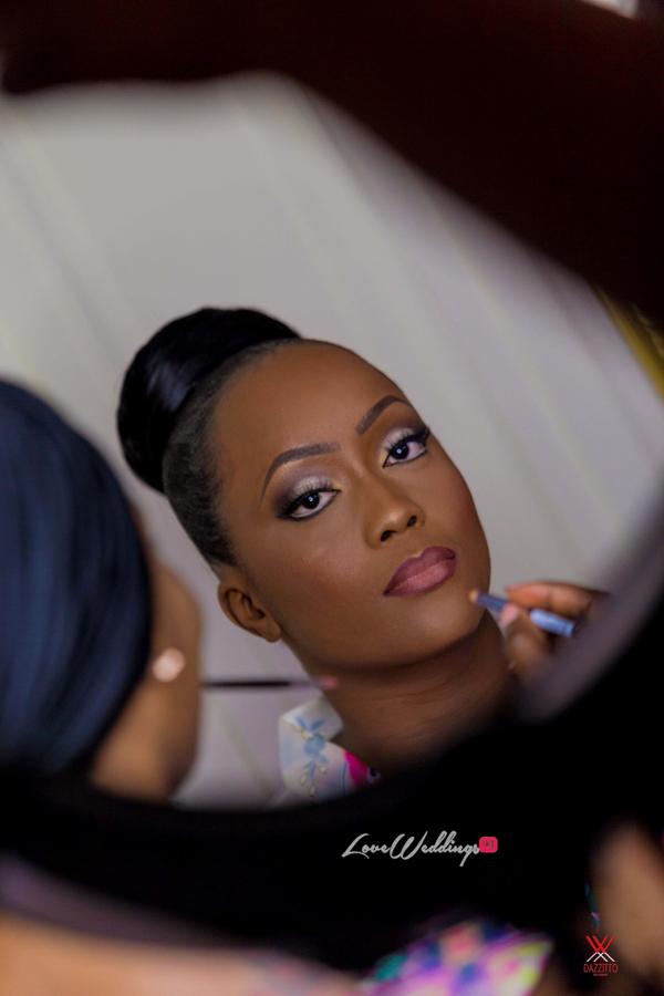 Nigerian Wedding in London Seun and Segun Bridal Makeup LoveweddingsNG Dazzitto Photography