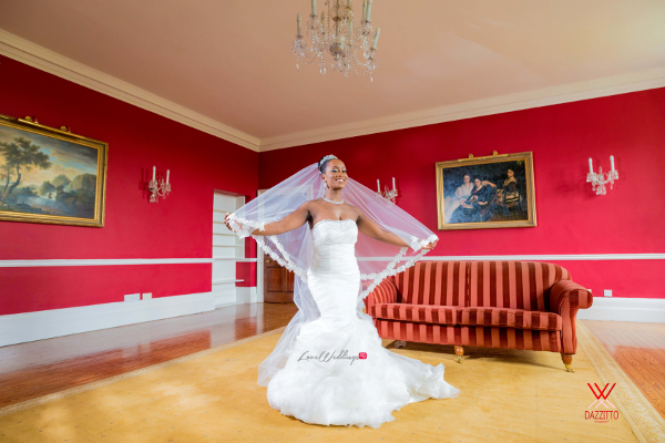 Nigerian Wedding in London Seun and Segun Bride LoveweddingsNG Dazzitto Photography
