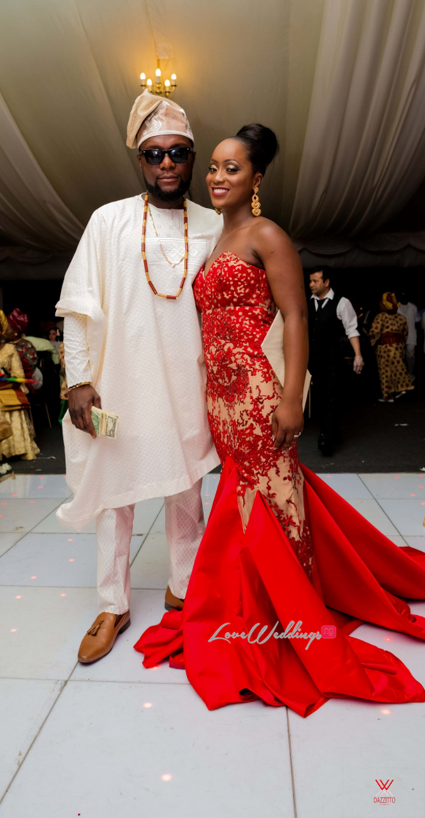 Nigerian Wedding in London Seun and Segun Bride and Groom Second Outfit LoveweddingsNG Dazzitto Photography
