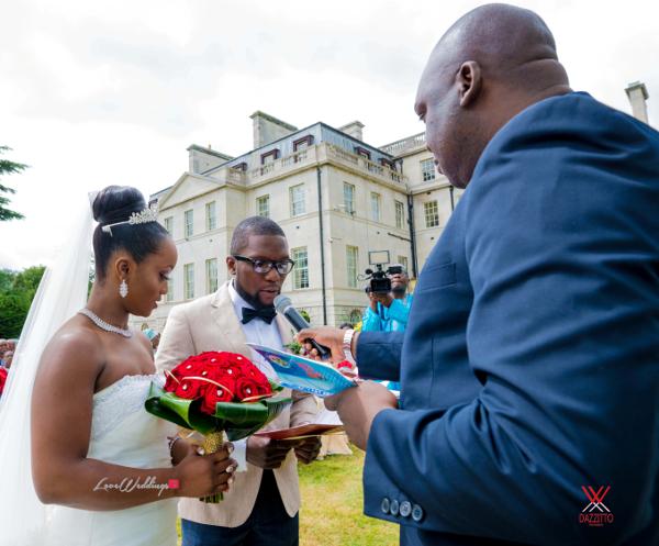 Nigerian Wedding in London Seun and Segun Bride and Groom Vows LoveweddingsNG Dazzitto Photography