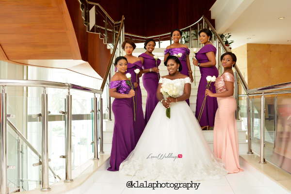 Nigerian White Wedding - Bride and Bridesmaids Folake and Ifeoluwa Klala Photography LoveweddingsNG 2