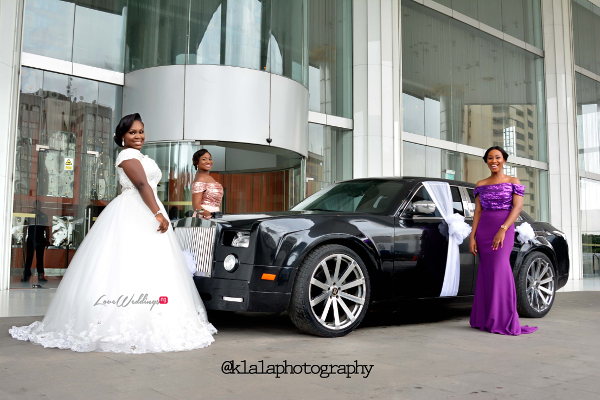 Nigerian White Wedding - Bride and Bridesmaids Folake and Ifeoluwa Klala Photography LoveweddingsNG