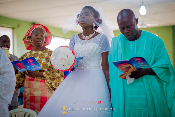 Nigerian White Wedding Bride and Father Walking down the Aisle Seun and Tosin Seun Kilanko Studios LoveweddingsNG