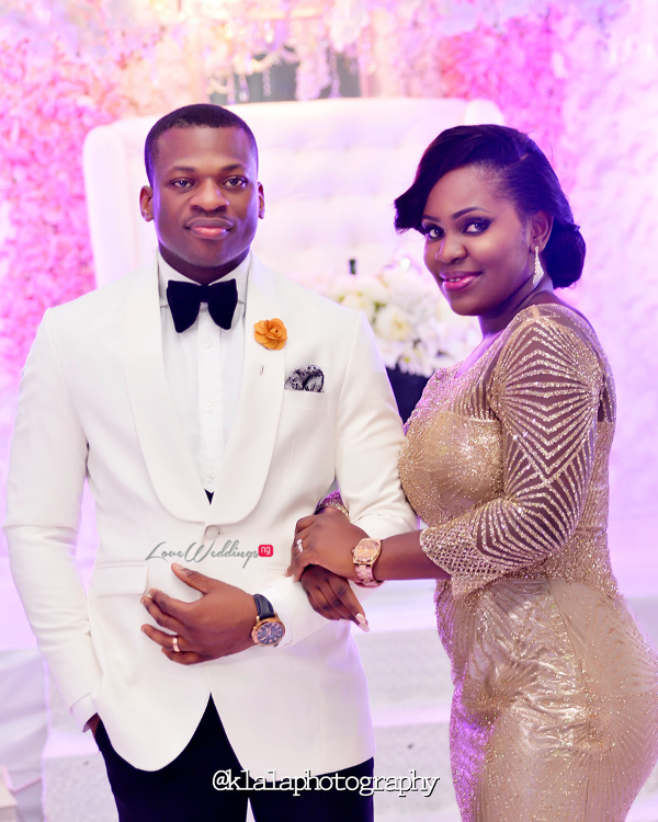 Nigerian White Wedding - Bride and Groom Folake and Ifeoluwa Klala Photography LoveweddingsNG
