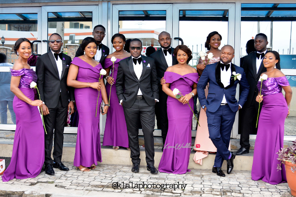 Nigerian White Wedding - Bridesmaids and Groomsmen Folake and Ifeoluwa Klala Photography LoveweddingsNG