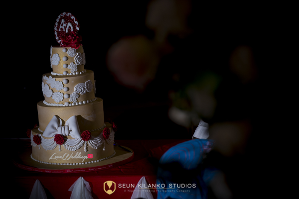 Nigerian White Wedding Cake Lamide and Biodun Seun Kilanko Studios LoveweddingsNG
