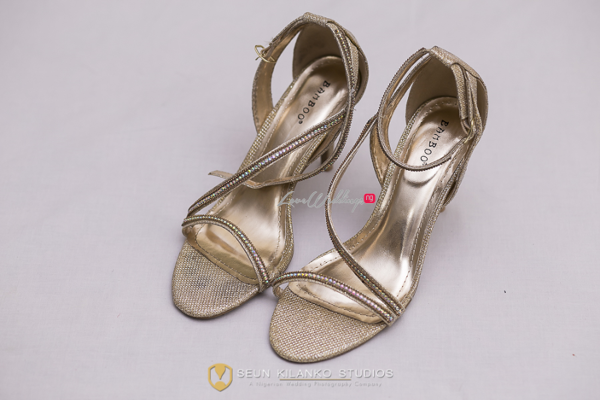 Nigerian White Wedding Details - Bridal Shoes Lamide and Biodun Seun Kilanko Studios LoveweddingsNG