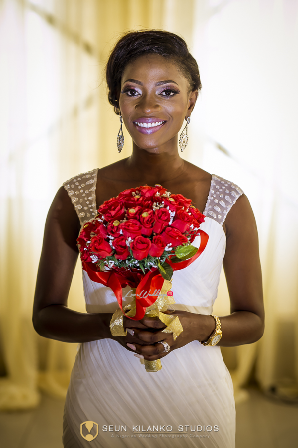 Nigerian White Wedding Details - Bride and Bouquet Lamide and Biodun Seun Kilanko Studios LoveweddingsNG